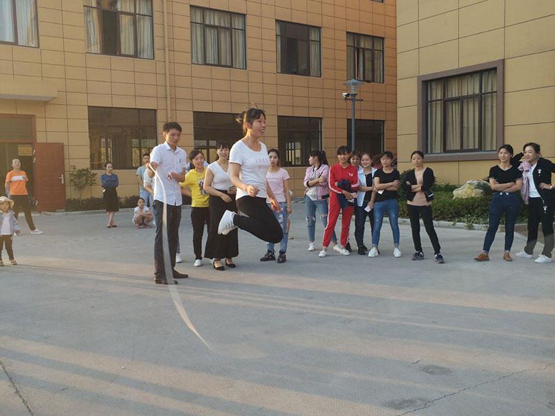 """""""三洋杯""""趣味运动会 集体跳绳比赛"""